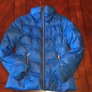 Guess PUFFER Jacket M Blue EUC warm winter coat